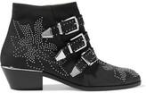 Chloé Susanna Studded Nubuck Ankle Boots - Charcoal
