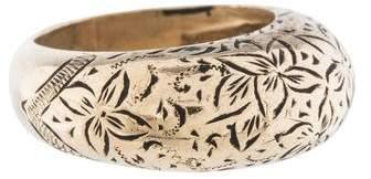 Ring 14K Floral Motif Band