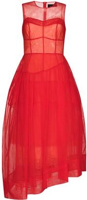 Simone Rocha Asymmetric Tulle Evening Dress