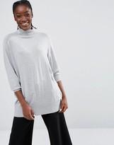 Monki Roll Neck Oversized Sweater