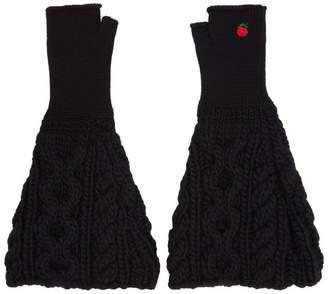 Undercover Black Knit Fingerless Gloves