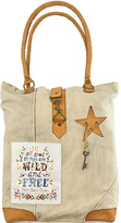 Vintage Addiction Tan 'All Good Things Are Wild and Free' Canvas Tote