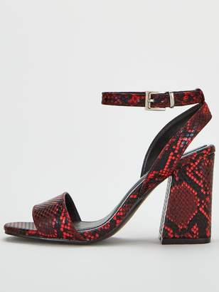 Very PixieWide Fit Heeled Sandal - Red