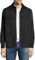 Rag & Bone Point Snap-Front Shirt Jacket, Black