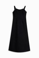 ADAM by Adam Lippes Knot Strap Bugle Bead Dress