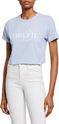 Rodarte Cropped Radarte Los Angeles Graphic Tee