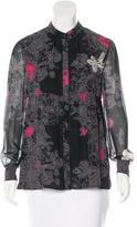 Giambattista Valli Silk Floral Print Top w/ Tags
