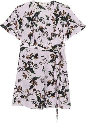 Diane von Furstenberg Kathy Floral Wrap Silk Dress