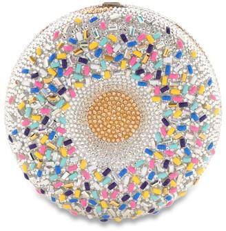 Judith Leiber Vanilla Sprinkles Doughnut Clutch Bag