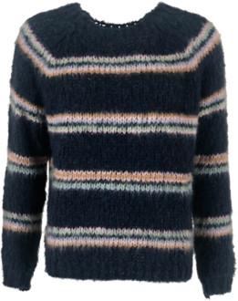Black Colour - Tilde Mohair Knitted Sweater Navy - S/M