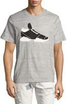 Mostly Heard Rarely Seen 3D 8-Bit Sneaker T-Shirt, Gray