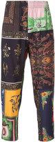 OSKLEN patchwork print trousers - men - Viscose - 38