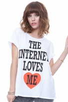 Local Celebrity Internet Love Schiffer Tee in White