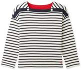 Petit Bateau Girls 3/4-sleeved tube knit t-shirt with stripes