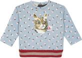 Gucci Cat cotton sweatshirt 6-36 months