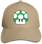 Marc by Marc Jacobs MARC Custom Nintendo Green Mushroom 1Up Adult Summer Caps