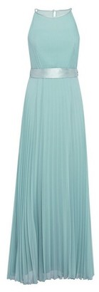 Dorothy Perkins Womens Showcase Green Bridesmaids 'Thyme' Lucy Pleated Maxi Dress, Green