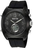 Kenneth Cole Reaction Men's Quartz Metal and Rubber Casual Watch, Color:Black (Model: RKC0169002)