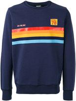 Diesel 'S-Joe' rainbow panel sweatshirt - men - Cotton - M