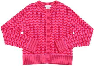 Stella Mccartney Kids Organic Cotton Tricot Knit Cardigan