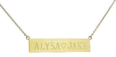Jennifer Meyer Personalized Nameplate - Yellow Gold | 2 Sided Engraving
