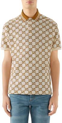 Gucci GG Stretch Pique Short Sleeve Polo