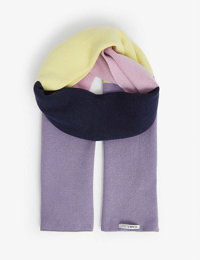 Olivia Rubin Pam colour-block wool-blend scarf