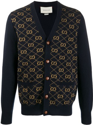 Gucci GG jacquard V-neck cardigan