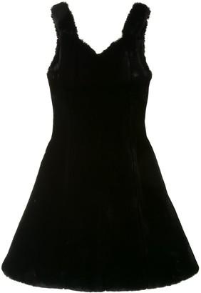 KIKO KOSTADINOV Fur Mini Dress