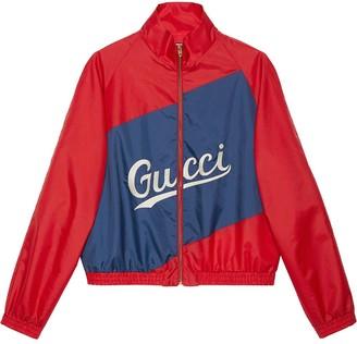 Gucci script nylon jacket