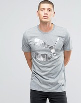 Puma Archive Metallic Logo T-Shirt In Gray 57151338