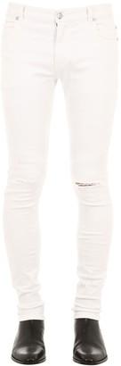 Balmain 12.5cm Ultra Skinny Cotton Denim Jeans