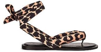 Ganni Recycled Tech Fabric Sandals in Leopard | FWRD