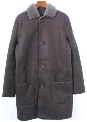 Celine Grey Shearling Coat for Women