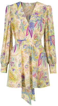 Etro Silk crepe de chine minidress