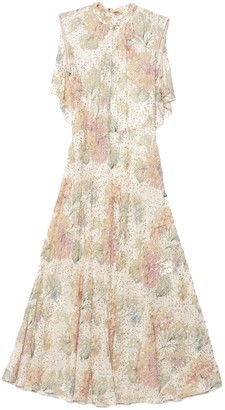 RED Valentino Floral Open-Back Dress