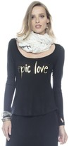 Peace Love World Epic Love Black Tribeca Fashion Top