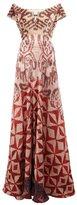 Afroditi Hera ikat velvet gown - women - Silk/Polyester/Viscose/Velvet - 42