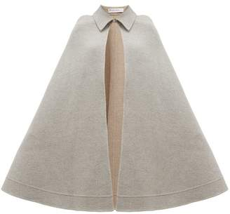 J.W.Anderson Wool-blend Cape - Womens - Light Grey