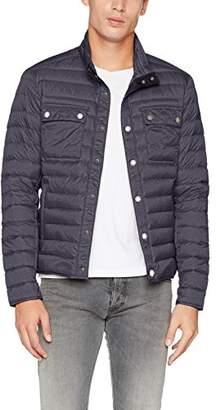 James & Nicholson Men's's Men's Lightweight Jacket Black-Melange, X-Large