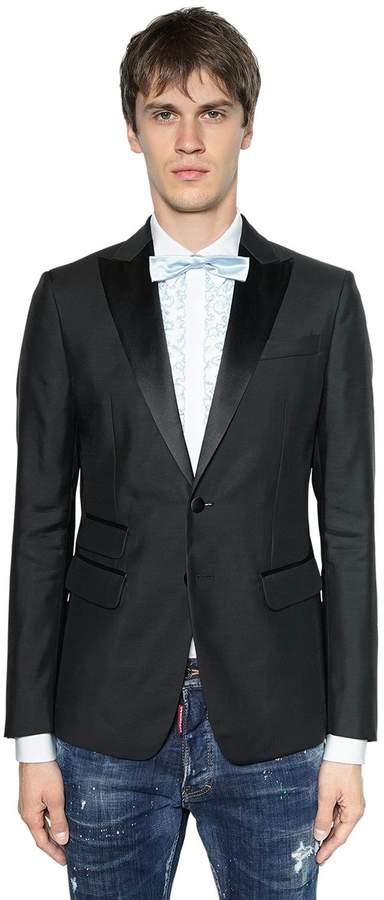 DSQUARED2 London Wool & Silk Blend Tuxedo Jacket