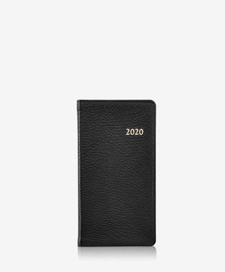 "GiGi New York 2020 6"" Pocket Datebook, Black Goatskin Leather"