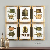 The Well Appointed House Set of Six Tortoise Study Prints Wall Art