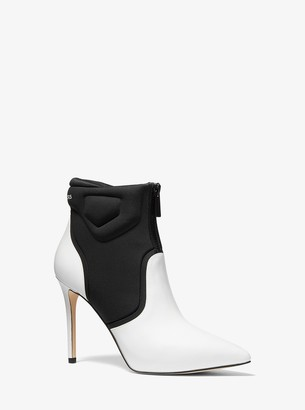 MICHAEL Michael Kors Uma Leather and Scuba Ankle Boot