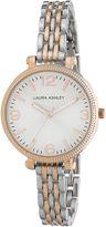Laura Ashley Ladies Two Tone Rose Gold Link Bracelet Watch La31006Rg