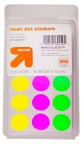 up & up Neon Dot Stickers, 300ct