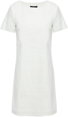 Theory Crinkled Linen-blend Mini Dress