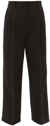 Racil Robert High-rise Pleated Crepe Trousers - Black
