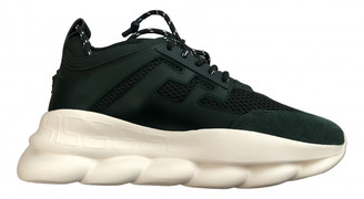 Versace Chain Reaction Green Polyester Trainers
