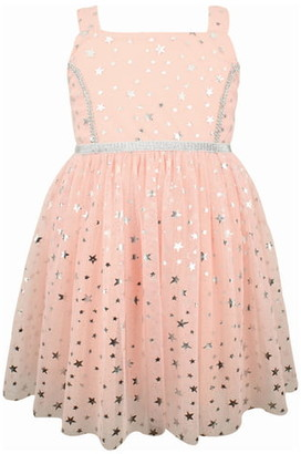 Popatu Metallic Star Tulle Dress